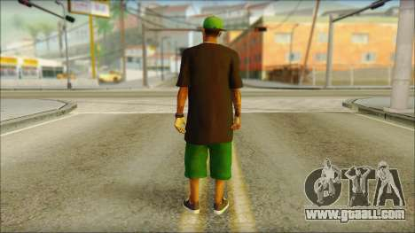 New Grove Street Family Skin v3 for GTA San Andreas second screenshot