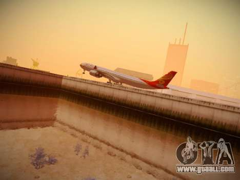 Airbus A340-600 Hainan Airlines for GTA San Andreas upper view