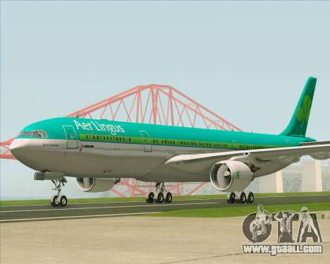 Airbus A330-300 Aer Lingus for GTA San Andreas left view