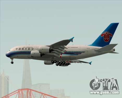 Airbus A380-841 China Southern Airlines for GTA San Andreas upper view