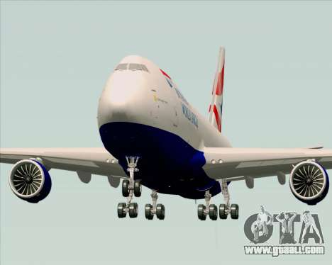 Boeing 747-8 Cargo British Airways World Cargo for GTA San Andreas right view