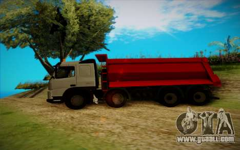 Volvo FMX for GTA San Andreas left view