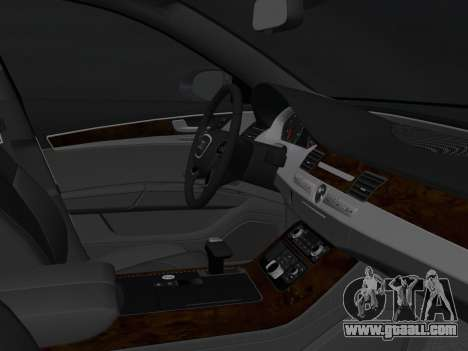 Audi A8 2010 W12 Rim3 for GTA Vice City inner view