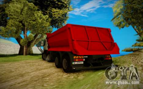 Volvo FMX for GTA San Andreas back left view