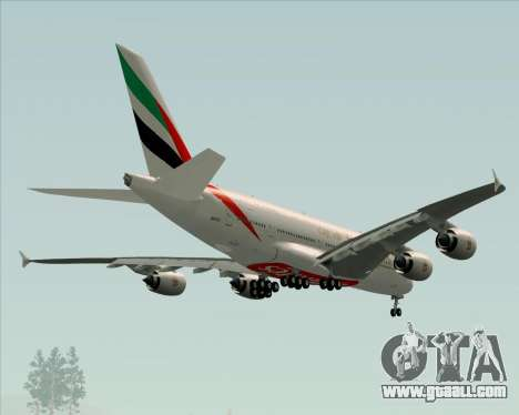 Airbus A380-841 Emirates for GTA San Andreas wheels