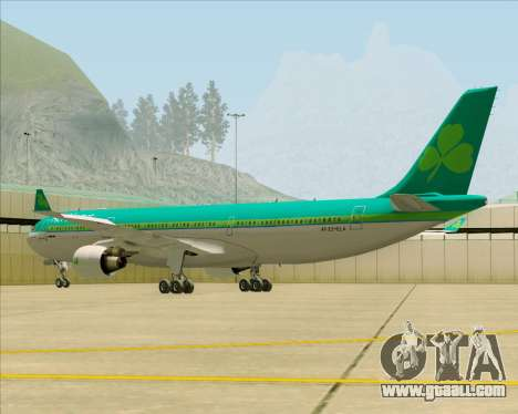 Airbus A330-300 Aer Lingus for GTA San Andreas back left view