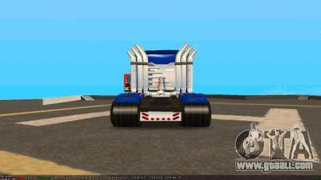 Peterbilt 379 Optimus Prime for GTA San Andreas right view