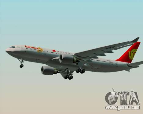 Airbus A330-200 Air China for GTA San Andreas inner view