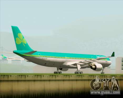 Airbus A330-300 Aer Lingus for GTA San Andreas right view