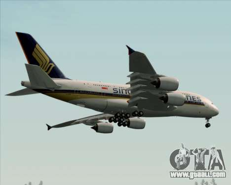 Airbus A380-841 Singapore Airlines for GTA San Andreas inner view