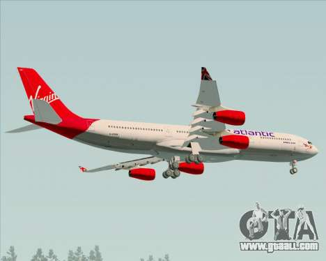Airbus A340-313 Virgin Atlantic Airways for GTA San Andreas inner view