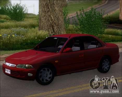 Proton Persona 1996 1.5 Gli for GTA San Andreas back left view