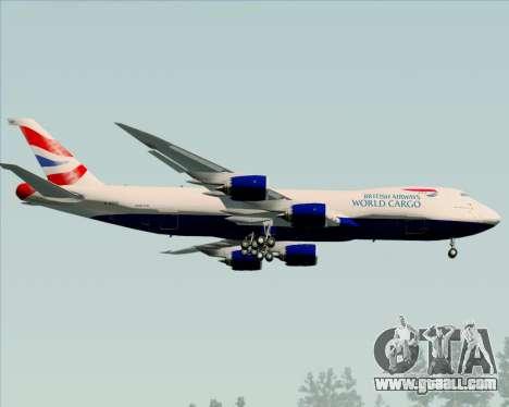 Boeing 747-8 Cargo British Airways World Cargo for GTA San Andreas back view