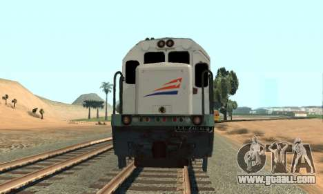 GE U18C CC 201 Indonesian Locomotive for GTA San Andreas back left view
