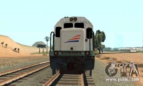 GE U18C CC 201 Indonesian Locomotive for GTA San Andreas back left view