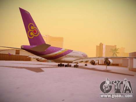 Airbus A380-800 Thai Airways International for GTA San Andreas right view
