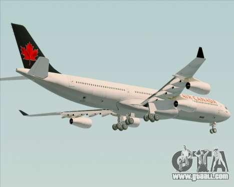 Airbus A340-313 Air Canada for GTA San Andreas inner view