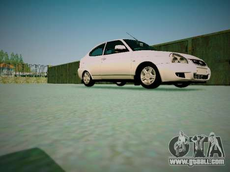 Lada Priora Coupe for GTA San Andreas inner view