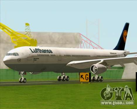 Airbus A340-313 Lufthansa for GTA San Andreas left view