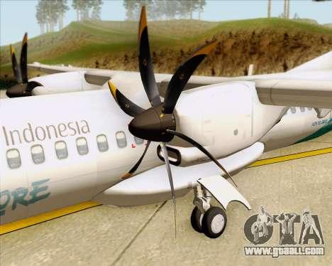 ATR 72-500 Garuda Indonesia Explore for GTA San Andreas side view