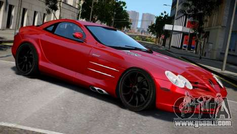 Mercedes SLR McLaren for GTA 4 back left view