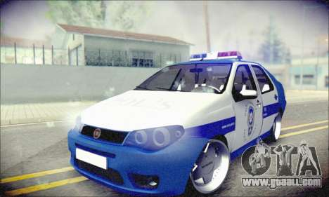 Fiat Albea Police Turkish for GTA San Andreas back view