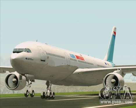 Airbus A330-300 Air Inter for GTA San Andreas left view