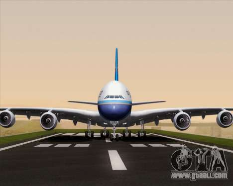 Airbus A380-841 China Southern Airlines for GTA San Andreas side view