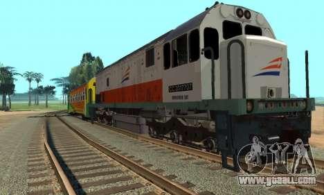 GE U18C CC 201 Indonesian Locomotive for GTA San Andreas