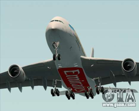 Airbus A380-841 Emirates for GTA San Andreas side view