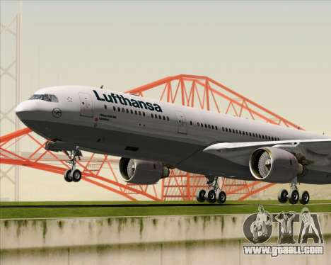 Airbus A330-300 Lufthansa for GTA San Andreas upper view