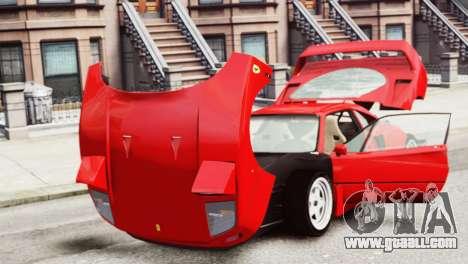 Ferrari F40 1987 for GTA 4 back view