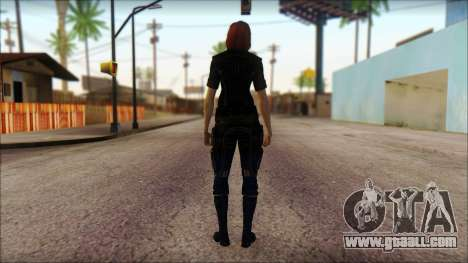 Mass Effect Anna Skin v4 for GTA San Andreas second screenshot