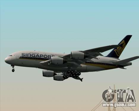 Airbus A380-841 Singapore Airlines for GTA San Andreas side view