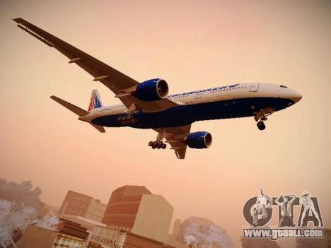 Boeing 777-212ER Transaero Airlines for GTA San Andreas right view