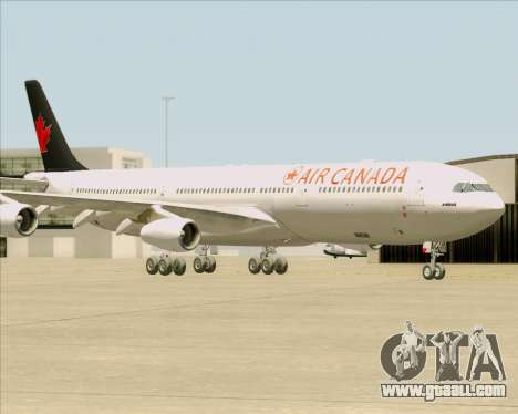 Airbus A340-313 Air Canada for GTA San Andreas side view
