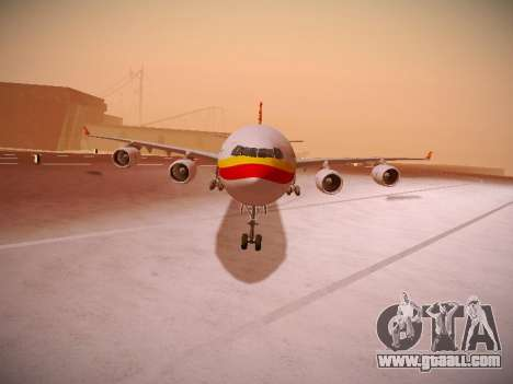 Airbus A340-600 Hainan Airlines for GTA San Andreas left view