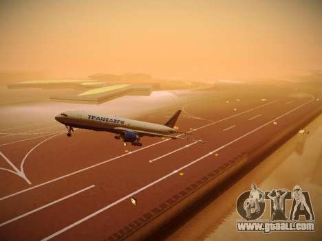 Boeing 777-212ER Transaero Airlines for GTA San Andreas upper view