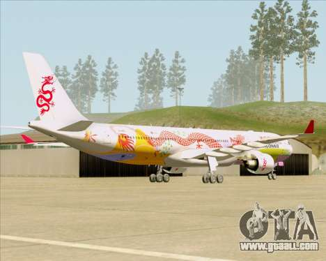 Airbus A330-300 Dragonair (20th Year Livery) for GTA San Andreas right view