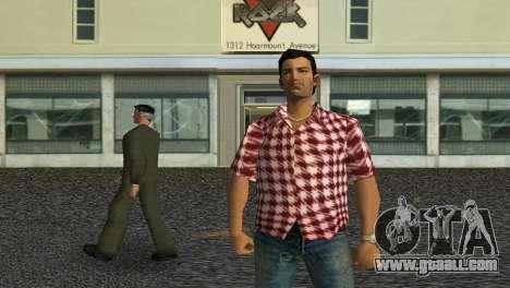 Kockas polo - piros T-Shirt for GTA Vice City third screenshot