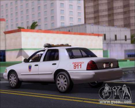 Ford Crown Victoria Tallmadge Battalion Chief 2 for GTA San Andreas back left view