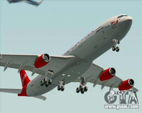 Airbus A340-313 Virgin Atlantic Airways for GTA San Andreas back view