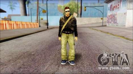Shades and Gun Claude v1 for GTA San Andreas