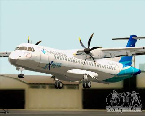 ATR 72-500 Garuda Indonesia Explore for GTA San Andreas back view