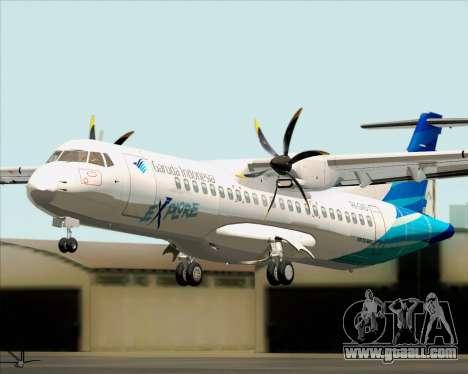 ATR 72-500 Garuda Indonesia Explore for GTA San Andreas back view