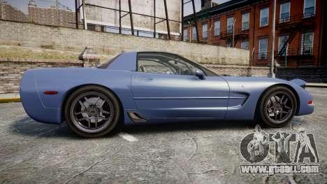 Chevrolet Corvette Z06 (C5) 2002 v2.0 for GTA 4 left view