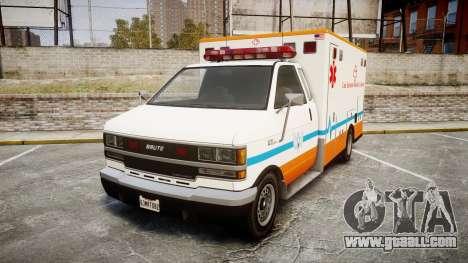 GTA V Brute Ambulance [ELS] for GTA 4