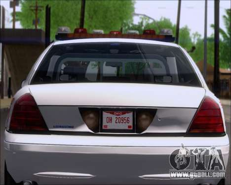 Ford Crown Victoria Tallmadge Battalion Chief 2 for GTA San Andreas inner view