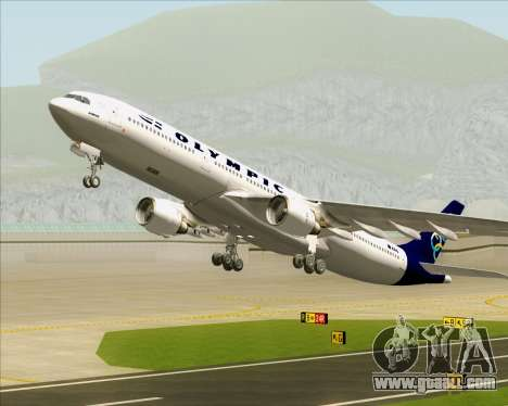Airbus A330-300 Olympic Airlines for GTA San Andreas wheels