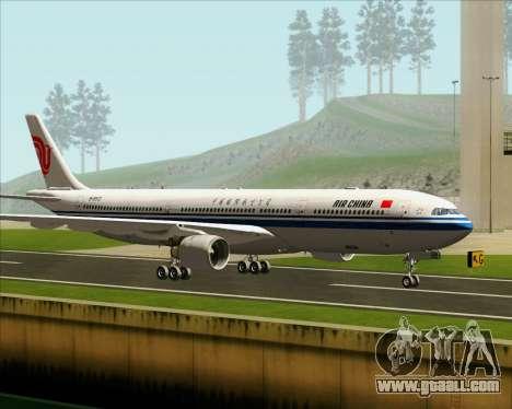 Airbus A330-300 Air China for GTA San Andreas back left view